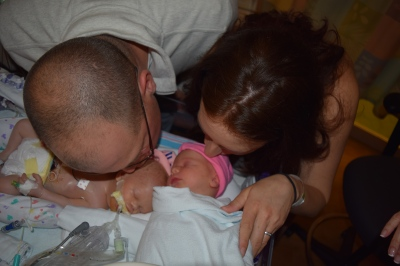 Last kisses with our sweet angel. We will miss you every day Emmy!