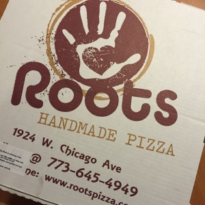 "We have been so fortunate to have extended ""family"" taking care of us during our time here. In this box was the BEST pizza I have ever had in my life…delivered right to our hospital room about three days into our stay. It was like a burger on top of a pizza. If you're ever in Chicagoland just trust me….hit up Roots Handmade Pizza. Thanks Leo!!!"
