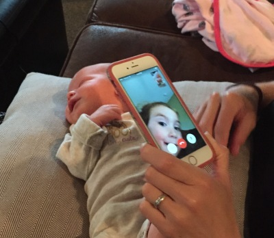 FaceTime with cousins Ella and Avery.