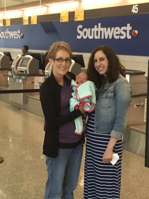 Dropping Nana off at the airport. We were so sad to see her go!