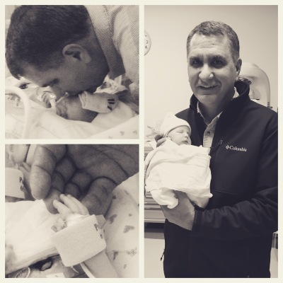 The only thing better than having this man as my Dad is my girls having him as their Papa. On the right he is holding Lexi for the first time. On the left, he is sharing sweet moments with our Emmy the day she became our angel.